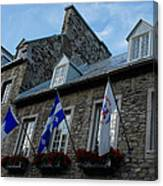 Old Stone Houses In Quebec City Canada  Canvas Print