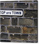 Old Street Sign Canvas Print
