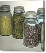 Old Style Vintage Kitchen Glass Jar Canning Canvas Print