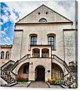 Old Synagogue Izaaka In Kazimierz District Of Krakow Poland Canvas Print