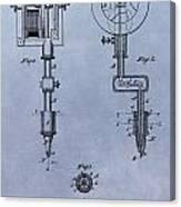 Old Tattoo Gun Patent Canvas Print