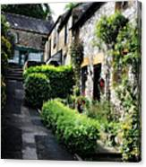 Old Terrace Houses - Peak District - England Canvas Print