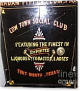 Old Texas Safe Canvas Print