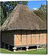 Old Thatched Barn Britain Canvas Print