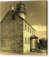 Old Time East Point Light Canvas Print