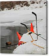 Old Time Hockey 1 Canvas Print