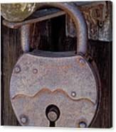 Old Time Padlock Canvas Print