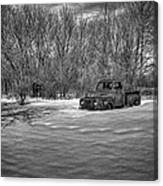 Old Timer In The Snow Canvas Print