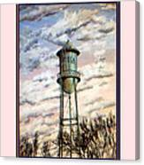 Old Tioga Water Tower Print Canvas Print
