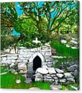 Old Tomb In The Countryside Ireland Canvas Print