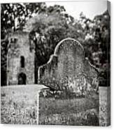Old Tombstone  Canvas Print