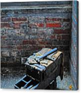 Old Tool Box Lonaconing Silk Mill Canvas Print