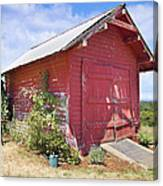 Old Tool Shed Red Barn Canvas Print