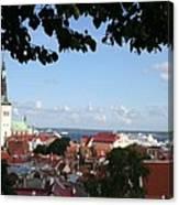Old Town And Harbor - Tallinn Canvas Print