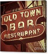 Old Town Bar - New York Canvas Print