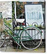 Old Town Bike Stop Canvas Print