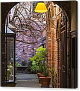 Old Town Courtyard In Victoria British Columbia Canvas Print