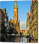 Old Town  Gdansk  Poland Canvas Print