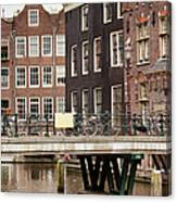 Old Town In Amsterdam Canvas Print