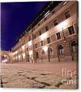 Old Town In Stockholm At Night Canvas Print