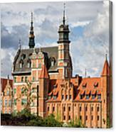 Old Town Of Gdansk In Poland Canvas Print