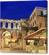 Old Town Of Split At Dusk Croatia Canvas Print