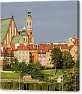 Old Town Of Warsaw Skyline Canvas Print