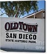 Old Town San Diego State Historic Park Canvas Print