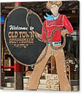 Old Town Scottsdale Cowboy Sign Canvas Print