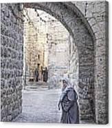 Old Town Street Of Jerusalem Israel Canvas Print