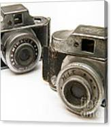 Old Toy Cameras Canvas Print