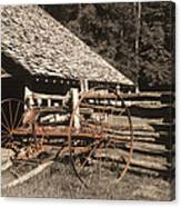 Old Vintage Antique Tractor In Appalachia Canvas Print