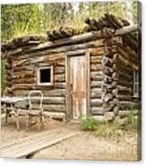 Old Traditional Log Cabin Rotting In Yukon Taiga Canvas Print