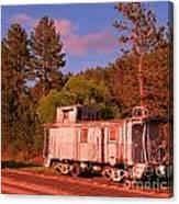 Old Train Caboose Canvas Print