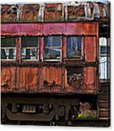 Old Train Car Canvas Print