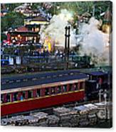 Old Train In The Village - Paranapiacaba Canvas Print
