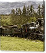 Old Train Steam Engine At The Fort Edmonton Park Canvas Print