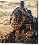 Old Train Still In Light Canvas Print