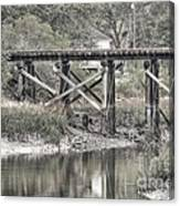 Old Train Trestle Canvas Print