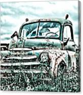 Old Truck - Cool Glaze Canvas Print