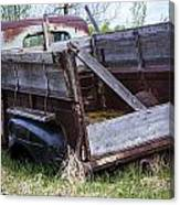 Old Truck With Moss Canvas Print