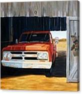 Old Trucks And Decoys Canvas Print