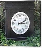 Old Tyme Clock Canvas Print
