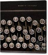 Old Typewriter Canvas Print