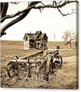 Old Wagon And Homestead II Canvas Print