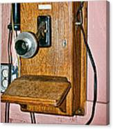 Old Wall Telephone Canvas Print