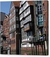 Old Warehouses Port Of Hamburg  Canvas Print