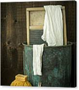 Old Washboard Laundry Days Canvas Print