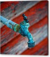 Old Water Valve Canvas Print