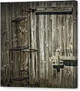 Old Weathered Barn Door Canvas Print